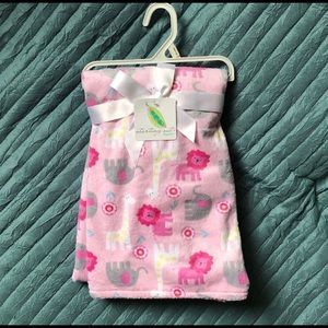 🆕 Pink zoo animal blanket
